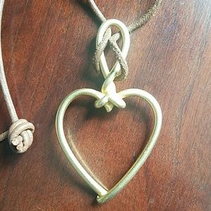 90s heart rope necklace